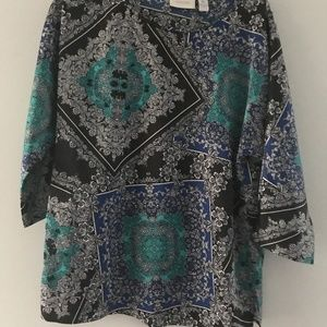 Chico's 3/4 Sleeve Tunic Top Size Small 4